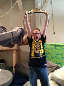 Benjamin wins the wrestling title!
