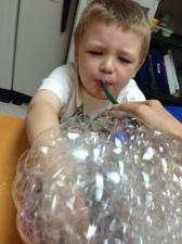 bubble blowing